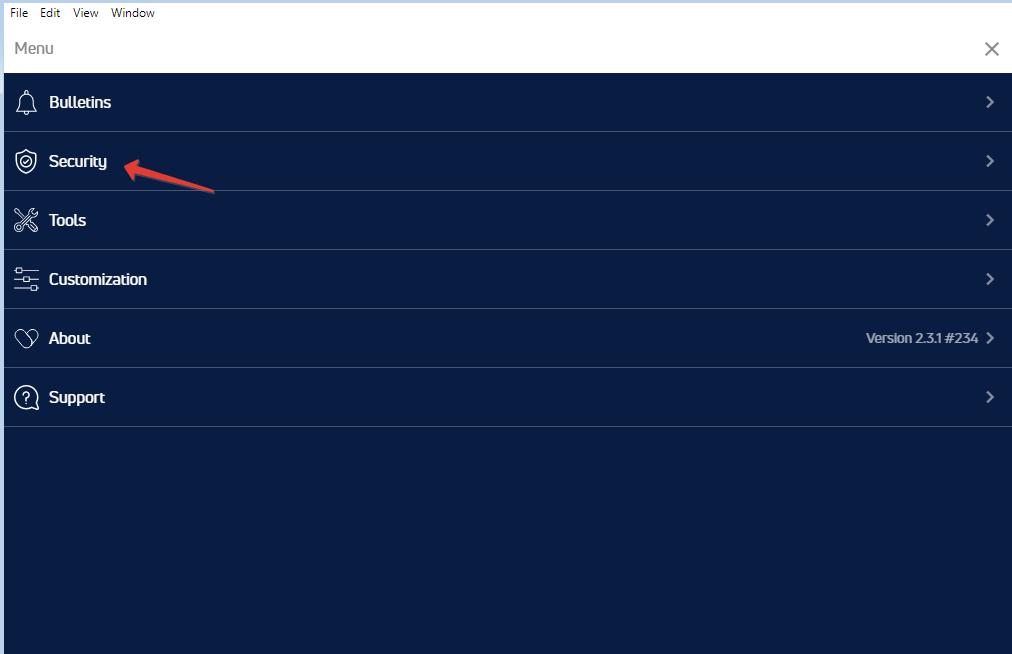 Установка PIN на jaxx - шаг2